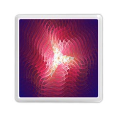 Fractal Red Sample Abstract Pattern Background Memory Card Reader (square)