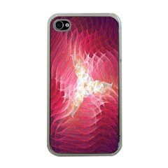 Fractal Red Sample Abstract Pattern Background Apple Iphone 4 Case (clear)
