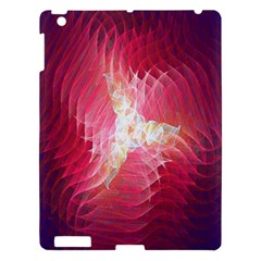 Fractal Red Sample Abstract Pattern Background Apple Ipad 3/4 Hardshell Case