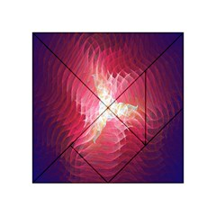 Fractal Red Sample Abstract Pattern Background Acrylic Tangram Puzzle (4  X 4 )