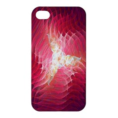 Fractal Red Sample Abstract Pattern Background Apple Iphone 4/4s Premium Hardshell Case