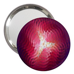 Fractal Red Sample Abstract Pattern Background 3  Handbag Mirrors