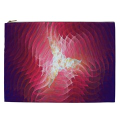 Fractal Red Sample Abstract Pattern Background Cosmetic Bag (xxl)