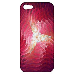 Fractal Red Sample Abstract Pattern Background Apple Iphone 5 Hardshell Case