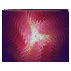 Fractal Red Sample Abstract Pattern Background Cosmetic Bag (xxxl)