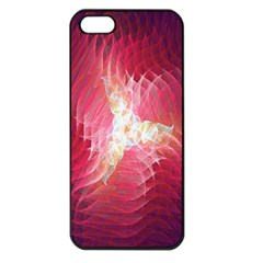 Fractal Red Sample Abstract Pattern Background Apple Iphone 5 Seamless Case (black)