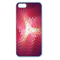 Fractal Red Sample Abstract Pattern Background Apple Seamless Iphone 5 Case (color)