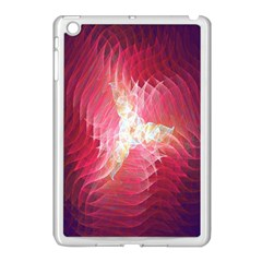 Fractal Red Sample Abstract Pattern Background Apple Ipad Mini Case (white)