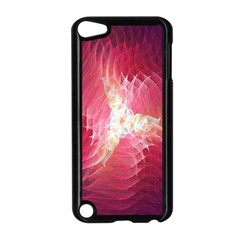 Fractal Red Sample Abstract Pattern Background Apple Ipod Touch 5 Case (black)