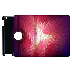 Fractal Red Sample Abstract Pattern Background Apple Ipad 3/4 Flip 360 Case