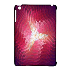 Fractal Red Sample Abstract Pattern Background Apple Ipad Mini Hardshell Case (compatible With Smart Cover)