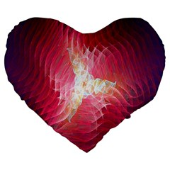 Fractal Red Sample Abstract Pattern Background Large 19  Premium Heart Shape Cushions
