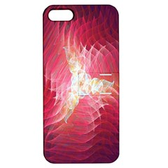 Fractal Red Sample Abstract Pattern Background Apple Iphone 5 Hardshell Case With Stand