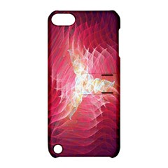 Fractal Red Sample Abstract Pattern Background Apple Ipod Touch 5 Hardshell Case With Stand