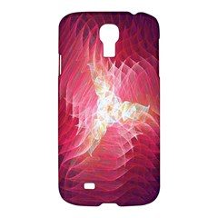 Fractal Red Sample Abstract Pattern Background Samsung Galaxy S4 I9500/i9505 Hardshell Case