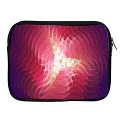Fractal Red Sample Abstract Pattern Background Apple Ipad 2/3/4 Zipper Cases