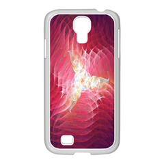Fractal Red Sample Abstract Pattern Background Samsung GALAXY S4 I9500/ I9505 Case (White)