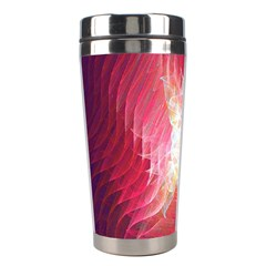 Fractal Red Sample Abstract Pattern Background Stainless Steel Travel Tumblers