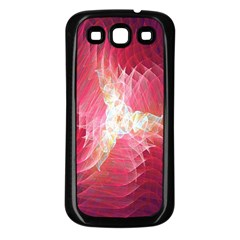 Fractal Red Sample Abstract Pattern Background Samsung Galaxy S3 Back Case (black)