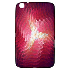 Fractal Red Sample Abstract Pattern Background Samsung Galaxy Tab 3 (8 ) T3100 Hardshell Case