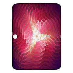 Fractal Red Sample Abstract Pattern Background Samsung Galaxy Tab 3 (10 1 ) P5200 Hardshell Case