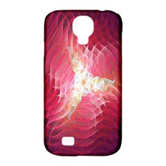 Fractal Red Sample Abstract Pattern Background Samsung Galaxy S4 Classic Hardshell Case (pc+silicone)