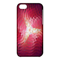 Fractal Red Sample Abstract Pattern Background Apple Iphone 5c Hardshell Case