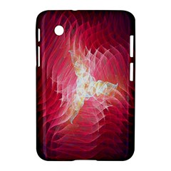 Fractal Red Sample Abstract Pattern Background Samsung Galaxy Tab 2 (7 ) P3100 Hardshell Case