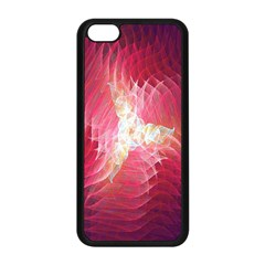 Fractal Red Sample Abstract Pattern Background Apple Iphone 5c Seamless Case (black)