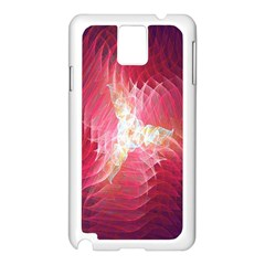 Fractal Red Sample Abstract Pattern Background Samsung Galaxy Note 3 N9005 Case (white)