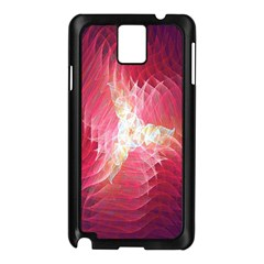 Fractal Red Sample Abstract Pattern Background Samsung Galaxy Note 3 N9005 Case (black)