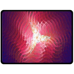 Fractal Red Sample Abstract Pattern Background Double Sided Fleece Blanket (large)