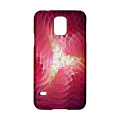 Fractal Red Sample Abstract Pattern Background Samsung Galaxy S5 Hardshell Case