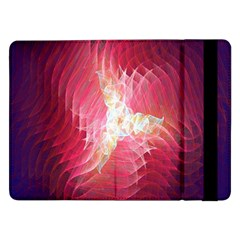 Fractal Red Sample Abstract Pattern Background Samsung Galaxy Tab Pro 12 2  Flip Case