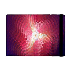 Fractal Red Sample Abstract Pattern Background Ipad Mini 2 Flip Cases