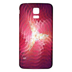 Fractal Red Sample Abstract Pattern Background Samsung Galaxy S5 Back Case (white)