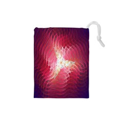 Fractal Red Sample Abstract Pattern Background Drawstring Pouches (small)