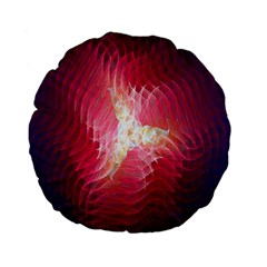 Fractal Red Sample Abstract Pattern Background Standard 15  Premium Flano Round Cushions