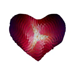 Fractal Red Sample Abstract Pattern Background Standard 16  Premium Flano Heart Shape Cushions