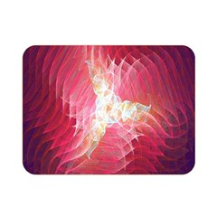 Fractal Red Sample Abstract Pattern Background Double Sided Flano Blanket (mini)