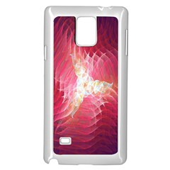 Fractal Red Sample Abstract Pattern Background Samsung Galaxy Note 4 Case (white)