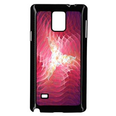Fractal Red Sample Abstract Pattern Background Samsung Galaxy Note 4 Case (black)
