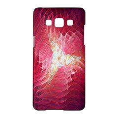 Fractal Red Sample Abstract Pattern Background Samsung Galaxy A5 Hardshell Case