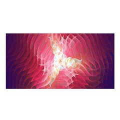 Fractal Red Sample Abstract Pattern Background Satin Shawl