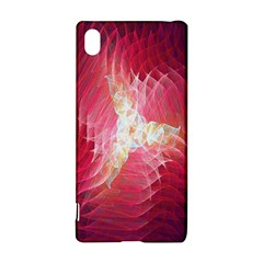 Fractal Red Sample Abstract Pattern Background Sony Xperia Z3+