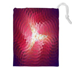 Fractal Red Sample Abstract Pattern Background Drawstring Pouches (xxl)