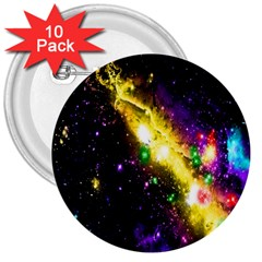 Galaxy Deep Space Space Universe Stars Nebula 3  Buttons (10 Pack)