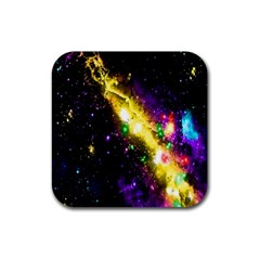 Galaxy Deep Space Space Universe Stars Nebula Rubber Square Coaster (4 Pack)