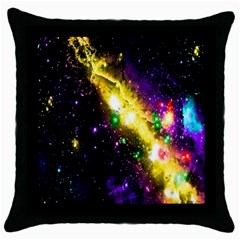 Galaxy Deep Space Space Universe Stars Nebula Throw Pillow Case (black)