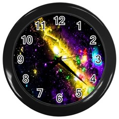 Galaxy Deep Space Space Universe Stars Nebula Wall Clocks (black)